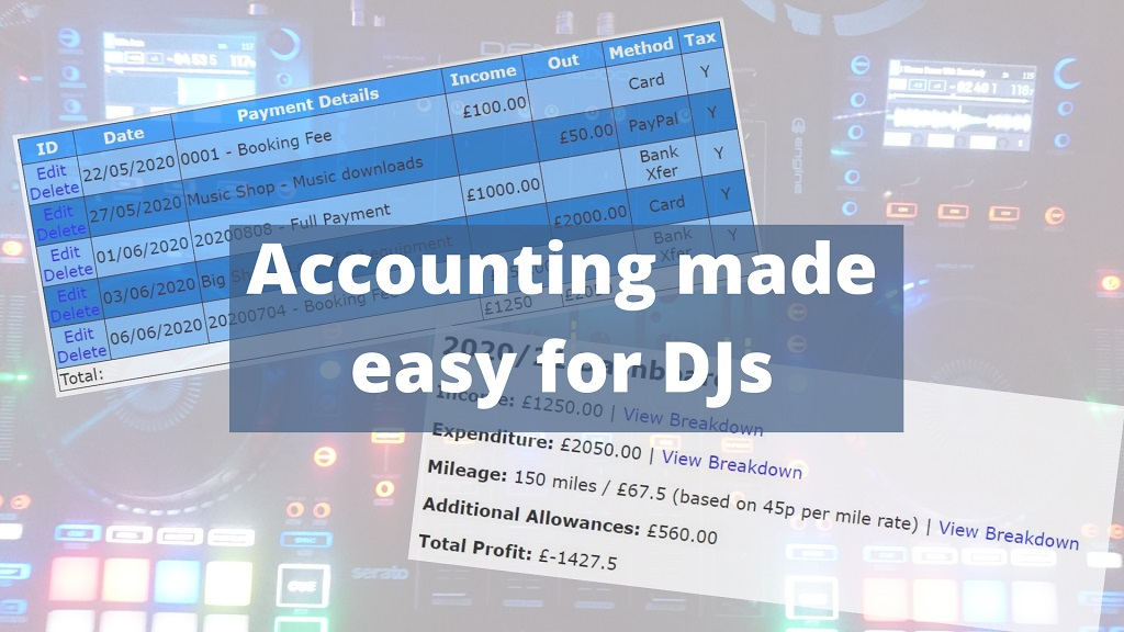 The DJ Admin management system